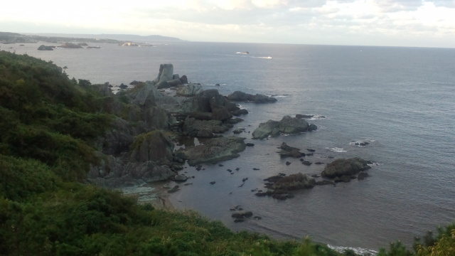 朝の七浦海岸